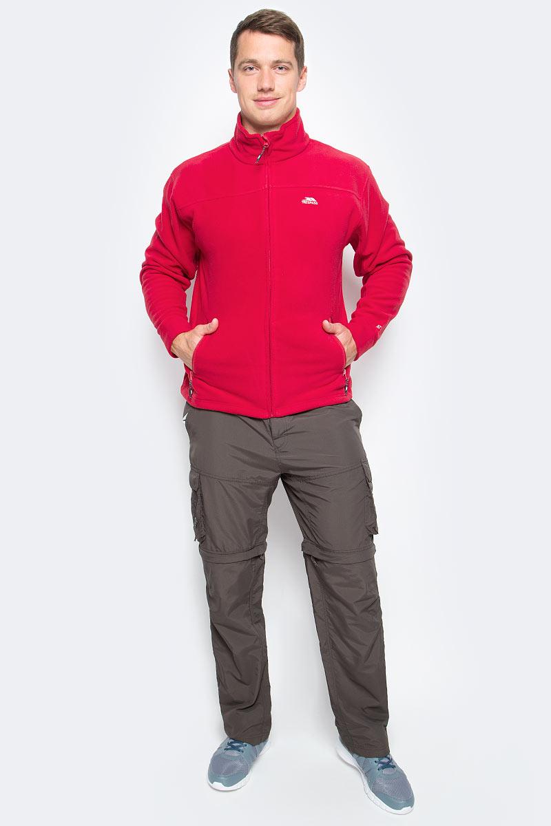 Толстовка мужская Trespass Bernal, цвет: красный. MAFLFLJ20009. Размер S (48)MAFLFLJ20009Отличная мужская толстовка Trespass Bernal выполнена из полиэстера, подкладка - из флиса.Модель с застежкой на молнию и боковыми карманами. Воротник-стойка. Низ изделия и рукавов дополнены манжетами, обеспечивающими комфортную посадку и защиту от ветра.