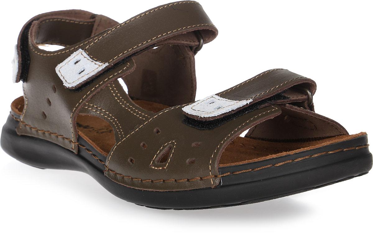 Сандалии для девочки Inblu, цвет:темно-коричневый. FR-2T. Размер 34FR-2T_темно-коричневыйМодные сандалии для девочки от Inblu выполнены из натуральной кожи. Внутренняя поверхность и стелька из натуральной кожи комфортны при движении. Ремешки с застежками-липучками надежно зафиксируют модель на ноге. Подошва дополнена рифлением.