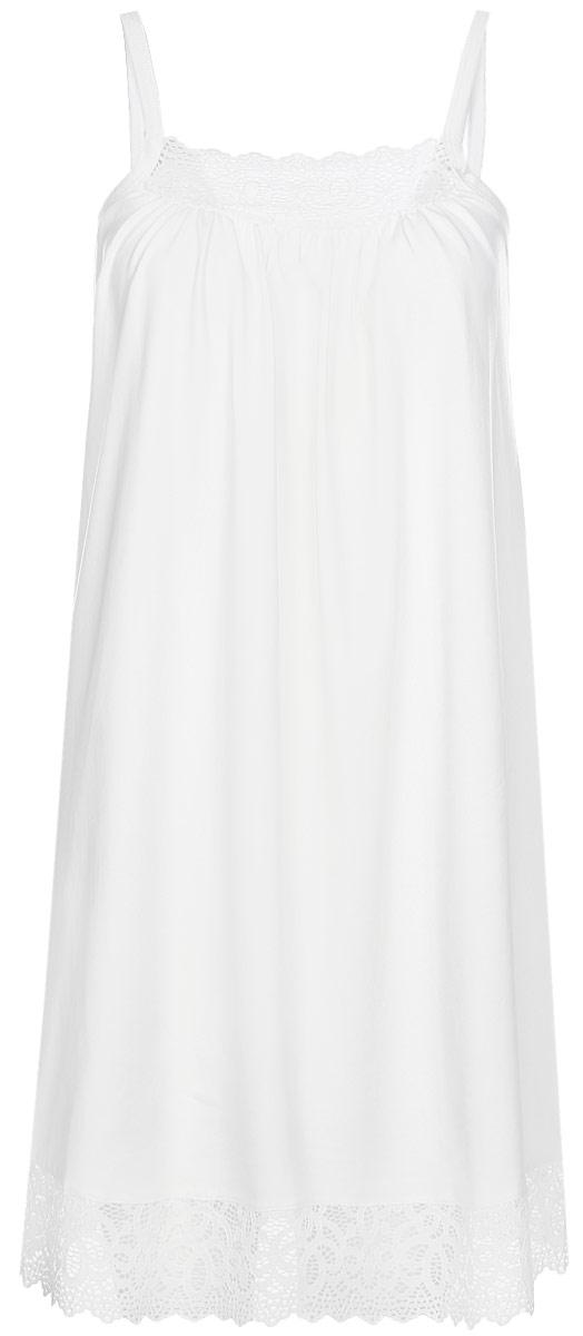 Сорочка для беременных и кормящих Hunny Mammy, цвет: молочный. 1-ФП 19102. Размер 441-ФП 19102Нежная сорочка для беременных и кормящих. Модель полуприлегающего силуэта, декорирована кружевом, бретель с клипсой для кормления малыша.