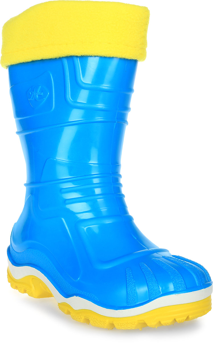 Сапоги резиновые для девочки Дюна, цвет: бирюзовый, желтый. 230/02 УФ. Размер 30230/02 УФРезиновые сапоги Дюна придутся по душе вашему ребенку! Модель изготовлена из качественной резины и оформлена яркой, контрастной полосой на подошве. Главным преимуществом резиновых сапожек является наличие съемного текстильного чулка, который можно вынуть и легко просушить. Подошва с рифлением обеспечивает отличное сцепление на любой поверхности.
