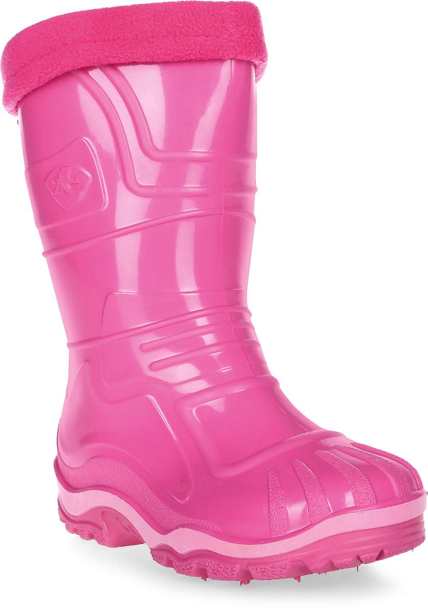 Сапоги резиновые для девочки Дюна, цвет: розовый. 230/02 УФ. Размер 31230/02 УФРезиновые сапоги Дюна придутся по душе вам и вашему ребенку! Модель изготовлена из качественной резины и оформлена яркой, контрастной полосой на подошве. Главным преимуществом резиновых сапожек является наличие съемного текстильного чулка, который можно вынуть и легко просушить. Подошва с глубоким рисунком протектора обеспечивает отличное сцепление на любой поверхности.