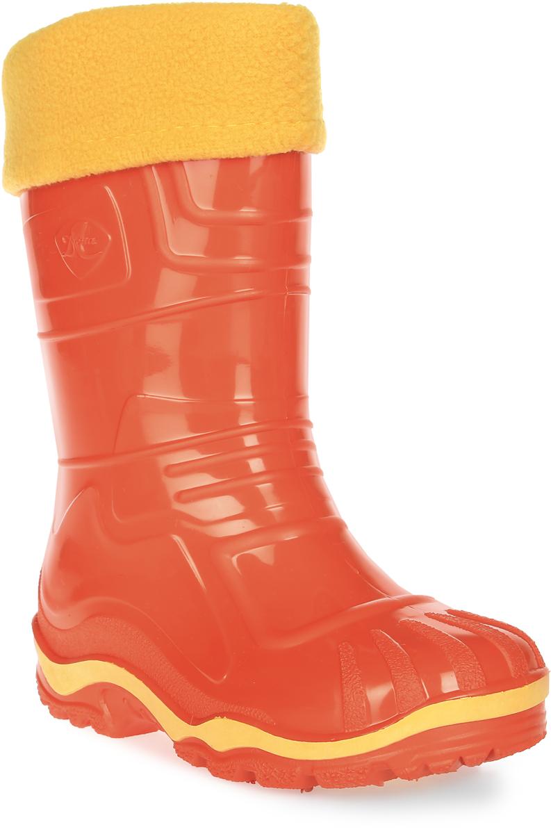 Сапоги резиновые для девочки Дюна, цвет: оранжевый. 230/02 УФ. Размер 31230/02 УФРезиновые сапоги Дюна придутся по душе вашему ребенку! Модель изготовлена из качественной резины и оформлена яркой, контрастной полосой на подошве. Главным преимуществом резиновых сапожек является наличие съемного текстильного чулка, который можно вынуть и легко просушить. Подошва с рифлением обеспечивает отличное сцепление на любой поверхности.