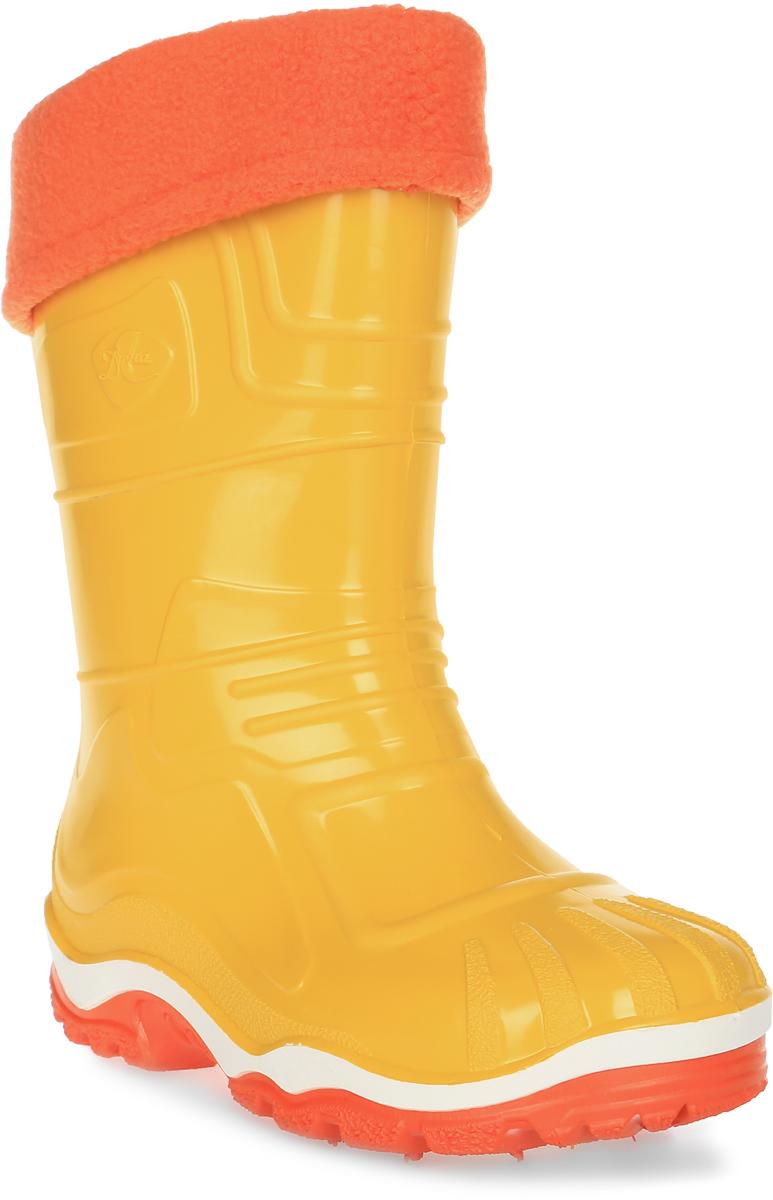 Сапоги резиновые для девочки Дюна, цвет: желтый. 230/02 УФ. Размер 31230/02 УФРезиновые сапоги Дюна придутся по душе вашему ребенку! Модель изготовлена из качественной резины и оформлена яркой, контрастной полосой на подошве. Главным преимуществом резиновых сапожек является наличие съемного текстильного чулка, который можно вынуть и легко просушить. Подошва с рифлением обеспечивает отличное сцепление на любой поверхности.