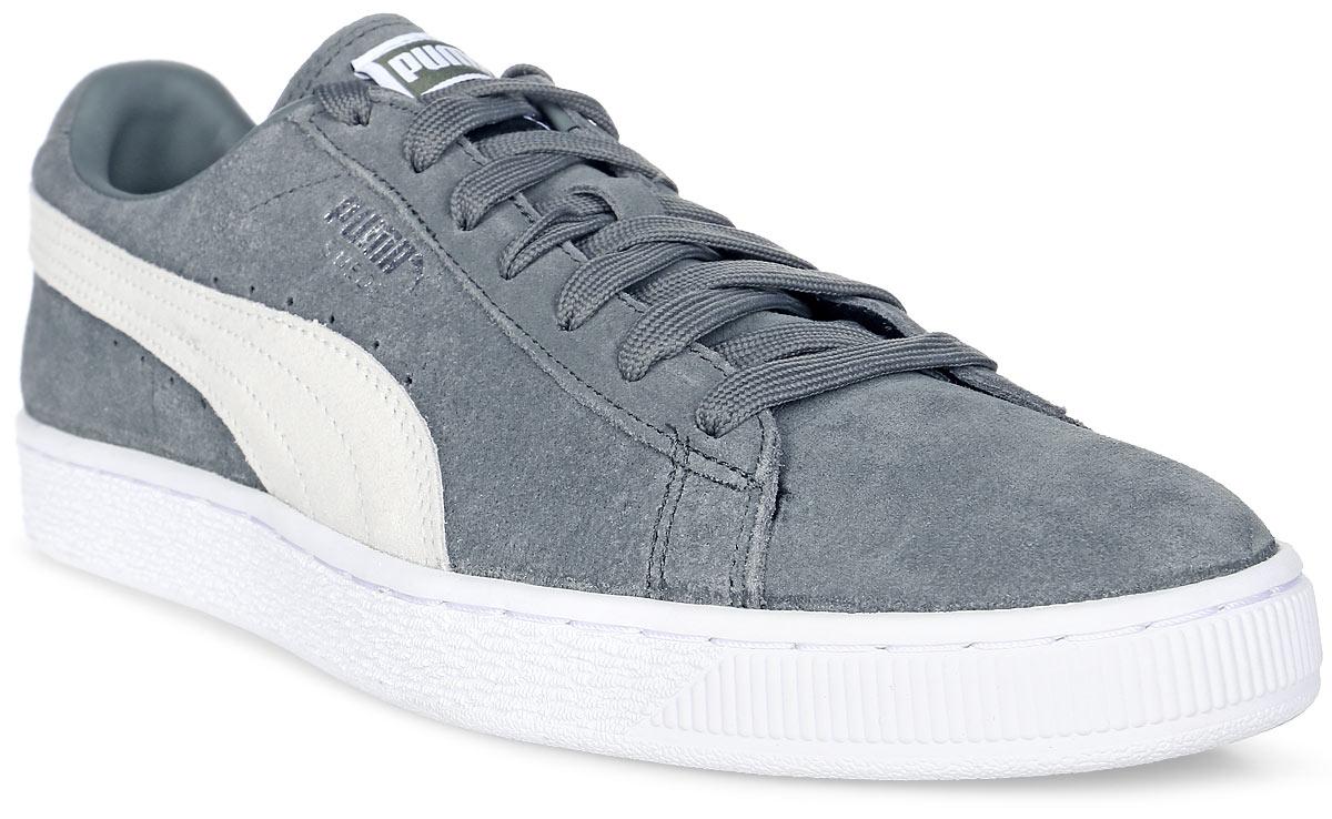 Кеды мужские Puma Suede Classic +, цвет: серый. 36324207. Размер 10,5 (44)36324207Без сомнения, самая известная и популярная модель от Puma произвела в своё время настоящую революцию в мире спортивной обуви, прославив этот немецкий бренд и став неотъемлемым аксессуаром молодежи, исповедующей активный стиль жизни, в любой стране мира. Культовая модель Suede Classic + представлена в этом сезоне для самых преданных поклонников в своём первозданном виде из замши высочайшего качества со знаменитым низким белым нарядным рантом.