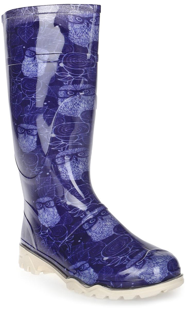 Сапоги резиновые для мальчика Дюна, цвет: синий (совы в очках). 370 РУ (НТП). Размер 36370 РУ (НТП)_совы в очках синийРезиновые сапоги Дюна - идеальная обувь в дождливую погоду для вашего ребенка. Модель изготовлена из качественной резины и оформлена стильным прином. Подкладка и стелька из текстиля обеспечат комфорт. Подошва с рифлением гарантирует отличное сцепление с любой поверхностью. Резиновые сапоги - необходимая вещь в гардеробе каждого ребенка.