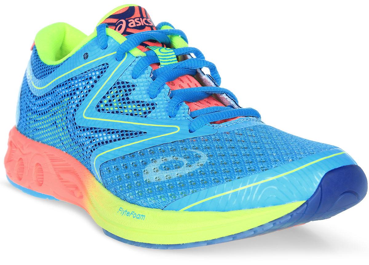 Кроссовки для бега женские Asics Noosa Ff, цвет: голубой. T772N-3906. Размер 8 (38)T772N-3906Революционные, инновационные, современные кроссовки Gel-Noosa Tri 12 получили новое переосмысление с появлением технологии FlyteFoam, которая позволяет создавать легкие и восприимчивые к каждому вашему движению кроссовки. Эти кроссовки просто незаменимы при занятии триатлоном. Отсутствие швов исключает натирание и раздражение кожи, а современный сетчатый материал позволяет носить кроссовки без носков. Здесь выполняются все ключевые требования, которым должны соответствовать кроссовки для бега: новый дизайн демонстрирует оптимальный баланс амортизации и поддержки стопы. Знаменитый амортизатор Gel позволит вам выполнять тренировки максимально интенсивно, ведь он гарантирует лучший контакт с поверхностью, снижая риск травм.
