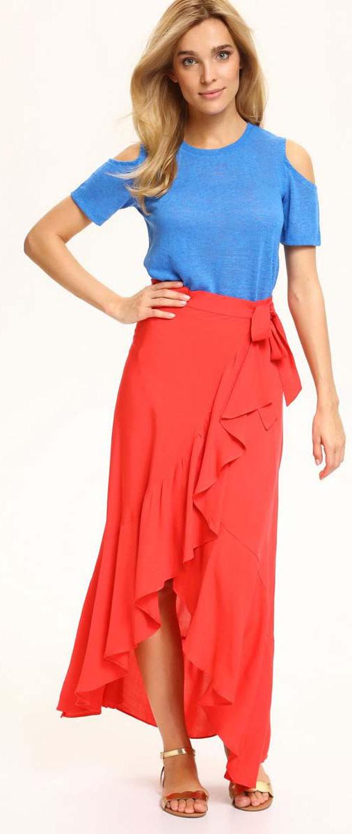 Футболка женская Top Secret, цвет: синий. SPO3268NI. Размер 38 (46)SPO3268NIСтильная женская футболка Top Secret выполнена из 100% полиэстера. Модель с круглой горловиной и короткими рукавами оформлена вырезами в области плеч. Такая футболка станет стильным дополнением к вашему гардеробу, она подарит вам комфорт в течение всего дня!