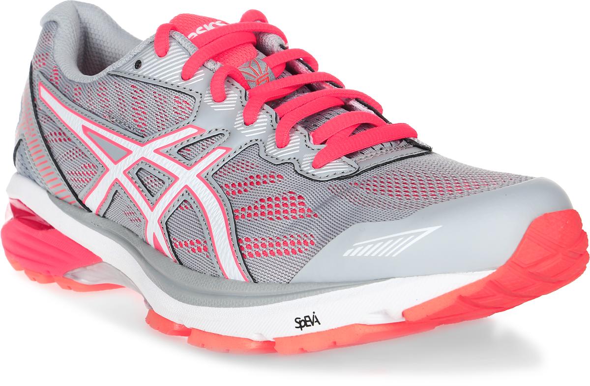Кроссовки для бега женские Asics GT-1000 5, цвет: серый, оранжевый. T6A8N-9601. Размер 8H (38,5)T6A8N-9601Стильные женские кроссовки GT-1000 5 от Asics - идеальная обувь для бега на длинные и короткие дистанции. Верх модели выполнен из сетчатого текстиля и искусственной кожи. Внутренняя поверхность из текстиля не натирает. Стелька из материала ЭВА с текстильной поверхностью комфортна при движении. Классическая шнуровка надежно зафиксирует изделие на ноге. Двухслойная упругая средняя подошва с технологией SpEVA обеспечивает дополнительнуюамортизацию. Пластиковый литой элемент Trusstic в средней части подошвы препятствуетскручиванию стопы. Вставка в промежуточной подошве из термостойкого геля на силиконовойоснове значительно уменьшает нагрузку на пятку, колени и позвоночник спортсмена, снижаявозможность получения травмы. Система I.G.S. выполняет функцию амортизации, обеспечиваетзащиту от чрезмерной пронации и скручивания стопы, поддерживает свод стопы, защищает ее отнежелательных боковых движений, увеличивает энергию отталкивания бегуна.Технология промежуточной подошвы Duomax с двойной плотностью предназначена дляповышения поддержки и стабильности. Подошва оснащена рифлением.