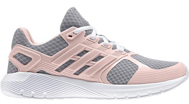 Кроссовки для бега женские Adidas Duramo 8, цвет: серый, розовый. BA8090. Размер 6 (38)BA8090Женские кроссовки для бега adidas Duramo 8 выполнены из сетчатого текстиля и оформлены накладками из полимера. Шнурки надежно зафиксируют модель на ноге. Внутренняя поверхность из сетчатого текстиля комфортна при движении. Стелька выполнена из легкого ЭВА-материала с поверхностью из текстиля. Подошва изготовлена из высококачественной легкой резины и оснащена технологией Cloudfoam для поглощения ударных нагрузок и комфортной посадки без разнашивания. Поверхность подошвы дополнена рельефным рисунком.