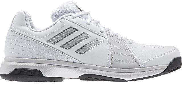 Кроссовки для тенниса Adidas Approach Oc, цвет: белый, серебристый. CG3109. Размер 9,5 (42,5)CG3109Отрабатывайте подачи с задней линии в этих легких теннисных кроссовках Adidas Approach Oc. Мягкий и прочный верх из искусственной кожи с перфорацией усиливает циркуляцию воздуха. Износостойкая подошва ADIWEAR обладает повышенной прочностью и выдерживает ежедневные тренировки. Усиленный мыс для более надежной защиты. Классическая шнуровка надежно фиксирует обувь на ноге. Резиновая подошва с рельефным протектором обеспечивает отличное сцепление с поверхностью.