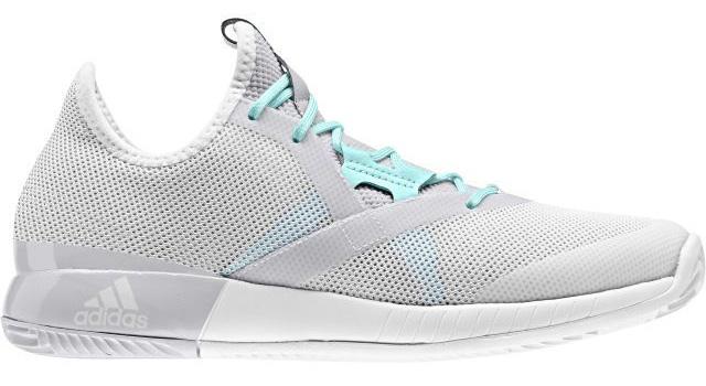 Кроссовки для тенниса женские Adidas Adizero Defiant Bou, цвет: светло-серый. CG3079. Размер 5,5 (37,5) - Теннис