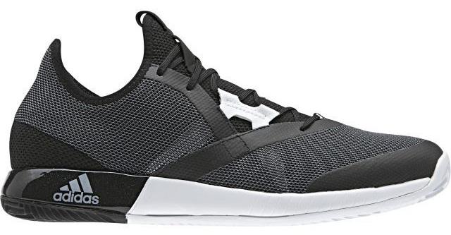 Кроссовки для тенниса мужские Adidas Adizero Defiant Bou, цвет: черный, белый. CG3077. Размер 11,5 (45) - Теннис