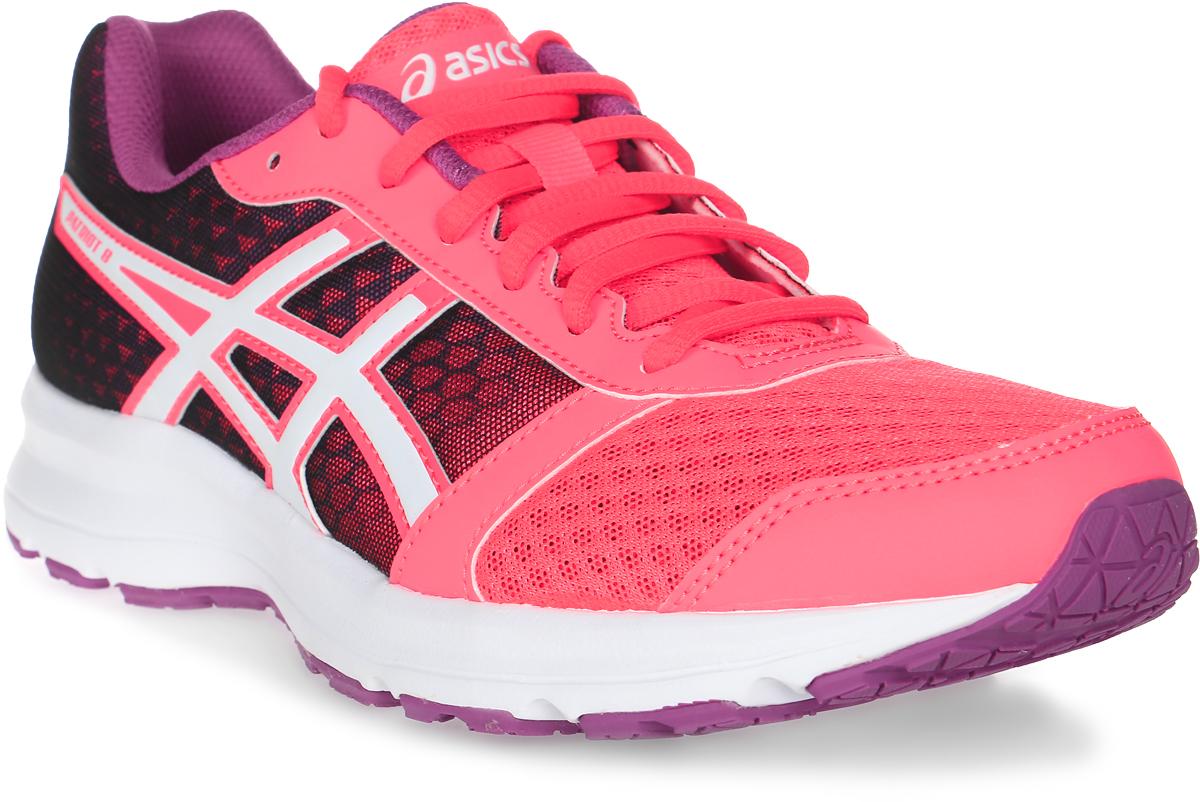 Кроссовки для бега женские Asics Patriot 8, цвет: коралловый, фиолетовый. T669N-2001. Размер 8H (38,5) - Бег