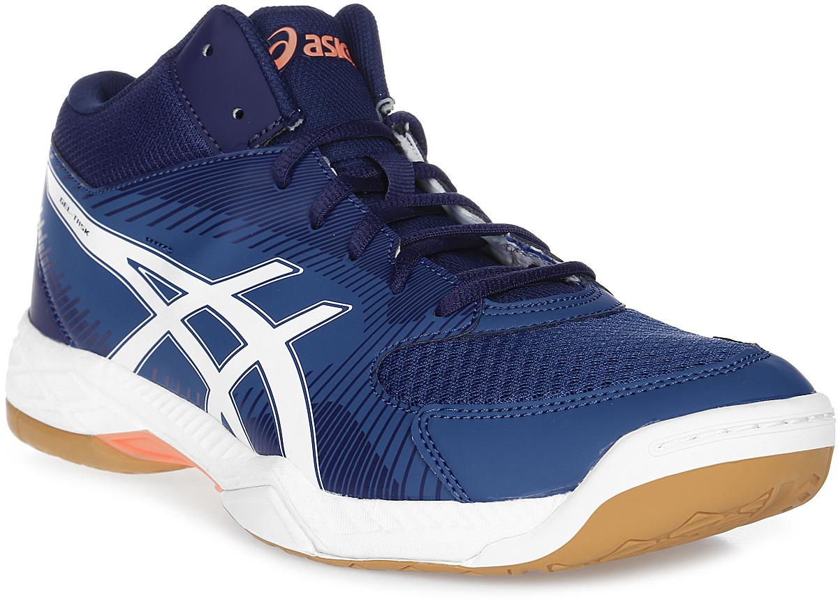 Кроссовки мужские Asics Gel-Task Mt, цвет: синий, белый. B703Y-4901. Размер 9 (41)B703Y-4901Стильные мужские кроссовки Gel-Task MT от Asics - эффектная, хорошо сбалансированная обувь для волейбола, в которой используются все знаменитые технологии Asics. Полувысокий вариант для большей поддержки стопы был разработан для игроков, для которых наиболее важным в обуви является гармоничное сочетание амортизации, комфорта и дизайна. Верх модели выполнен из дышащего текстиля, оформленного вставками из искусственной кожи и фирменными полосками бренда. Искусственная кожа устойчива к трению и разрывам. Дышащий материал обеспечивает легкость, комфорт и воздухопроницаемость. Asics-гель (специальный вид силикона) в носке поглощает удар, снижает нагрузку на пятку, колени и позвоночник спортсмена. Классическая шнуровка надежно фиксирует модель на стопе. Трасстик - литой элемент, расположенный под центральной частью подошвы, обеспечивает стабильность, легкость, предотвращает скручивание стопы. Подошва изготовлена из NC-резины, компоненты которой содержат больше натуральной резины, чем традиционной жесткой, что увеличивает сцепление на площадках. Колодка Калифорния - для стабильности и комфорта. Верх прострочен по кайме стельки EVA и напрямую закреплен на средней подошве. Стелька EVA с текстильной поверхностью обеспечивает превосходную амортизацию и комфорт. В таких кроссовках вашим ногам будет комфортно и уютно.