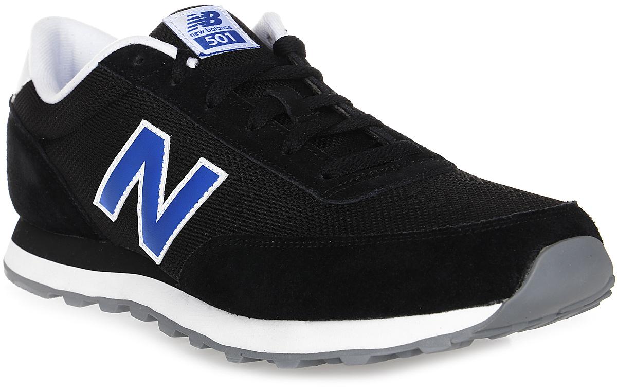 Кроссовки мужские New Balance 501, цвет: черный. ML501NWD/D. Размер 9,5 (43)ML501NWD/DСтильные мужские кроссовки от New Balance 501 станут отличным выбором для людей, которые всегда стремятся быть в тренде. Верх модели выполнен из натуральной замши со вставками из текстиля. По бокам обувь оформлена декоративными элементами в виде фирменного логотипа бренда, на язычке - фирменной нашивкой. Классическая шнуровка надежно зафиксирует изделие на ноге. Подкладка и стелька, изготовленные из текстиля, гарантируют уют и предотвращают натирание. Удобные кроссовки займут достойное место среди коллекции вашей обуви.