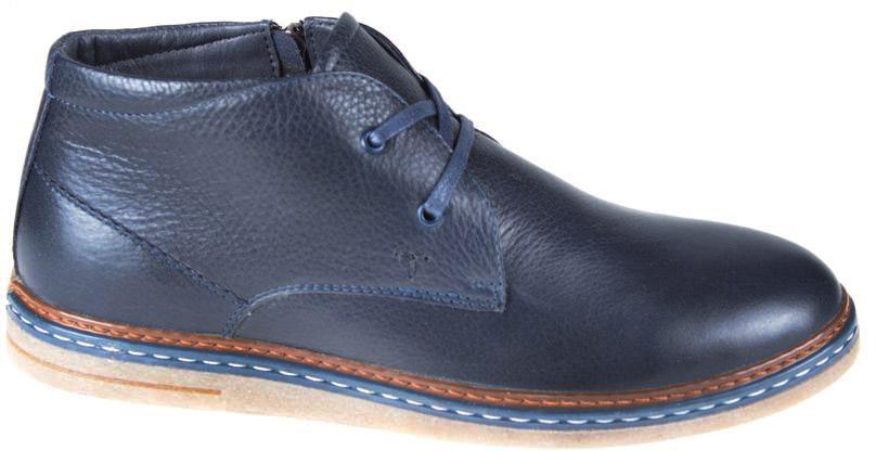Ботинки мужские Spur, цвет: синий. 48RS_599_82_2_D.BLUE. Размер 4248RS_599_82_2_D.BLUEМодель изготовлена из натуральной кожи. На ноге изделие фиксируется с помощью боковой молнии, а объем регулируется с помощью удобной шнуровки. Подкладка и стелька, изготовленные из шерсти, защитят ноги от холода и обеспечат уют. Подошва с рифлением гарантируют отличное сцепление с любой поверхностью. Модные и удобные ботинки - незаменимая вещь в вашем гардеробе.