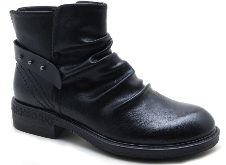 Ботинки женские Spur, цвет: черный. SM4172_01_01_BLACK. Размер 41SM4172_01_01_BLACKСтильные ботинки от Spur не оставят вас равнодушной. Модель на застежке-молнии, выполнена из искусственной кожи. Модель дополнена сзади на подъеме декоративным ремешком. Внутренняя поверхность и стелька, изготовленные из мягкой байки, сохраняют тепло и создают комфорт. Небольшой устойчивый каблук и подошва с рифлением гарантируют отличное сцепление с любой поверхностью. Модные и удобные ботинки - незаменимая вещь в женском гардеробе.