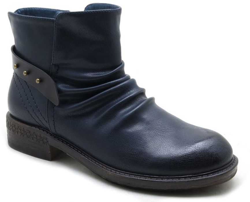 Ботинки женские Spur, цвет: темно-синий. SM4172_01_09_BLUE. Размер 38SM4172_01_09_BLUEСтильные ботинки от Spur не оставят вас равнодушной. Модель на застежке-молнии, выполнена из искусственной кожи. Модель дополнена сзади на подъеме декоративным ремешком. Внутренняя поверхность и стелька, изготовленные из мягкой байки, сохраняют тепло и создают комфорт. Небольшой устойчивый каблук и подошва с рифлением гарантируют отличное сцепление с любой поверхностью. Модные и удобные ботинки - незаменимая вещь в женском гардеробе.