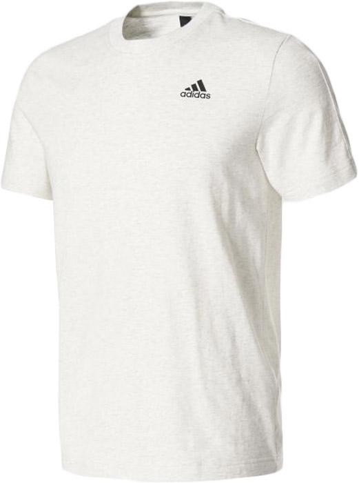 Футболка мужская Adidas Ess Base Tee, цвет: белый. B47356. Размер L (52/54)B47356Комфортная мужская футболка от Adidas с короткими рукавами и круглым вырезом горловины выполнена из натурального хлопка. Классический крой и рукава реглан обеспечивают оптимальную свободу движений. Модель украшена большим прорезиненным принтом с логотипом adidas.