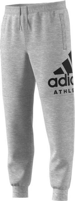 Брюки спортивные мужские Adidas Sid Logo T P Fl, цвет: серый. BC4873. Размер M (48/50)BC4873Мужские спортивные брюки Adidas, выполненные из хлопка с добавлением полиэстера, великолепно подойдут для отдыха и занятий спортом. Модель дополнена широкими эластичными резинками на поясе и по низу брючин. Объем талии регулируется с внешней стороны при помощи шнурка-кулиски.Спереди имеются два прорезных кармана. Модель оформлена на одной брючине логотипом бренда.