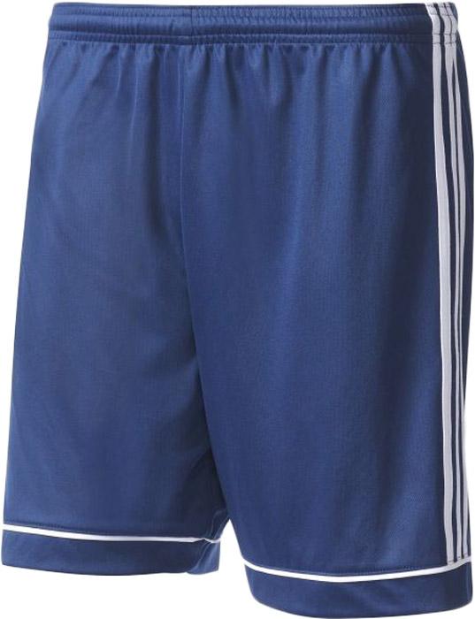 Шорты спортивные мужские Adidas Squad 17 Sho, цвет: синий. BK4765. Размер XL (56/58)BK4765Шорты мужские Adidas изготовлены из полиэстера. Модель дополнена на поясе эластичной резинкой на регулируемых завязках-шнурках. Изделие оформлено вертикальными полосками по бокам.