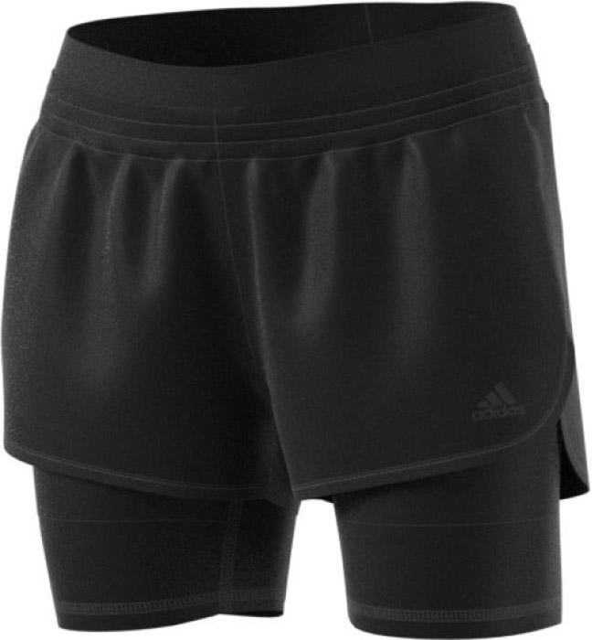 Шорты для фитнеса женские Adidas 2in1 Long Short, цвет: черный. BK7690. Размер M (46/48)BK7690Женские шорты Adidas сшиты из эластичной ткани. Модель два в одном дополнена внутренними леггинсами из дышащей отводящей влагу ткани climalite, которая повышает удобство и позволяет сосредоточиться на выполняемых упражнениях. Изделие дополнено эластичным поясом.