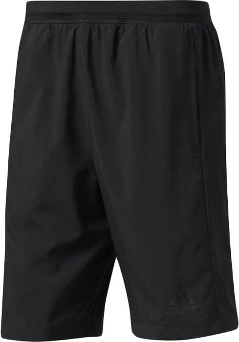 Шорты для фитнеса мужские Adidas D2m Wvn Shor, цвет: черный. BP8100. Размер XL (56/58)BP8100Шорты мужские Adidas изготовлены из полиэстера. Модель дополнена на поясе эластичной резинкой на регулируемых завязках-шнурках и прорезными карманами.