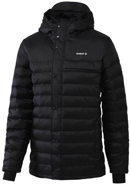 Куртка мужская Reebok F Long Jacket, цвет: черный. BQ2759. Размер M (48/50)BQ2759Мужская куртка Reebok выполнена из полиамида. Высокий воротник и эластичные манжеты для защиты от непогоды и оптимальной посадки. Модель застегивается на застежку-молнию и дополнена ветрозащитным клапаном на кнопках. Спереди расположено два прорезных кармана на молниях. Куртка дополнена логотипом бренда.