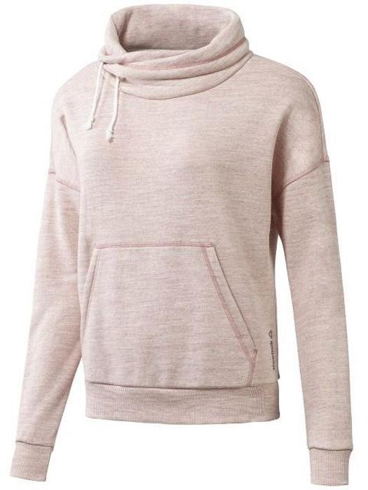 Худи жен Reebok El Marble Bb Cowl, цвет: розовый. BR5269. Размер XL (52/54)BR5269Стильный джемпер с оригнальным воротом для активного отдыха и тренировок