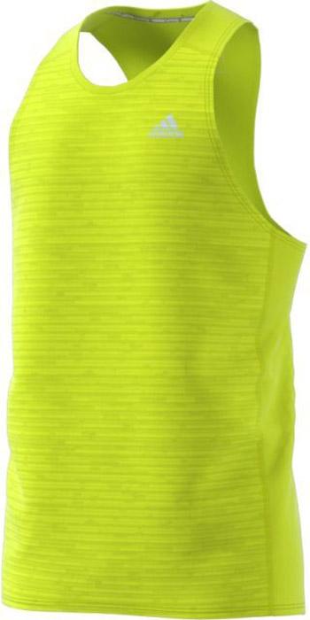 Майка для бега мужская Adidas Rs Singlet M, цвет: желтый. BS3259. Размер L (52/54)BS3259Удобная мужская майка Adidas, выполненная из полиэстера, гарантирует комфорт во время длительных забегов в жаркие дни. Ткань с технологией climalite® отводит излишки влаги от тела, сохраняя комфортное ощущение сухости. Майка-борцовка с круглым вырезом горловины дополнена светоотражающими полосками.