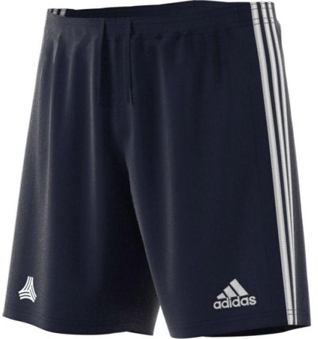 Шорты для футбола мужские Adidas Tanc3s Shorts, цвет: темно-синий. CD2329. Размер XL (56/58)CD2329Шорты мужские Adidas изготовлены из полиэстера. Модель дополнена на поясе эластичной резинкой на регулируемых завязках-шнурках. Изделие оформлено вертикальными полосками по бокам.