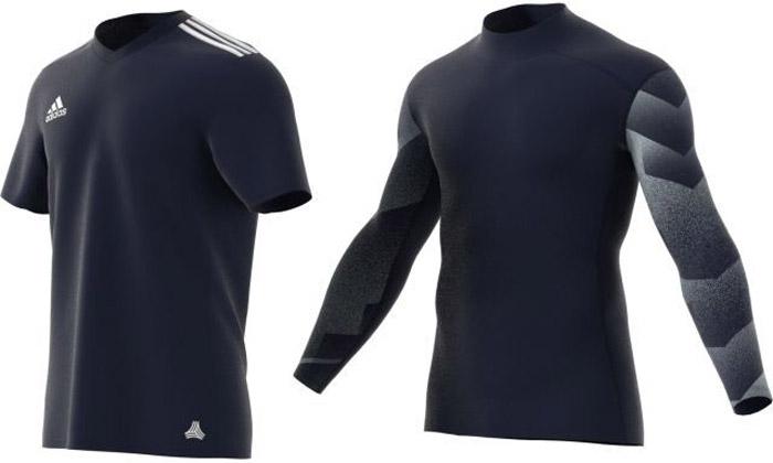 Комплект из 2-х футболок мужской Adidas Tan Jsy Bl Set, цвет: темно-синий. CD4610. Размер S (44/46)CD4610Комплект Adidas выполнен из полиэстера с добавлением эластана. В комплект входят: футболка с коротким рукавом и V-образным вырезом горловины, оформленным на плечах тремя полосками и футболка с длинными рукавами, оформленная принтом.