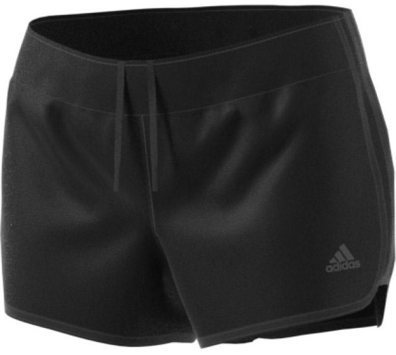 Шорты для бега женские Adidas M10 Woven Short, цвет: черный. CE2015. Размер M (46/48)CE2015Шорты женские Adidas изготовлены из полиэстера. Эти беговые шорты сохраняют ощущение прохлады и свежести во время ежедневных тренировок. Скрытый карман идеально подходит для ключей, а эластичный пояс на завязках обеспечивает комфортную посадку. Модель дополнена светоотражающимися элементами.