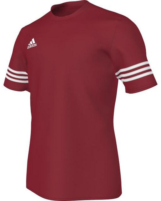 Футболка мужская Adidas Entrada 14 Jsy, цвет: бордовый. F50485. Размер XL (56/58)F50485Комфортная мужская футболка от Adidas с короткими рукавами и круглым вырезом горловины выполнена из высококачественного материала. Модель оформлена спереди логотипом бренда.