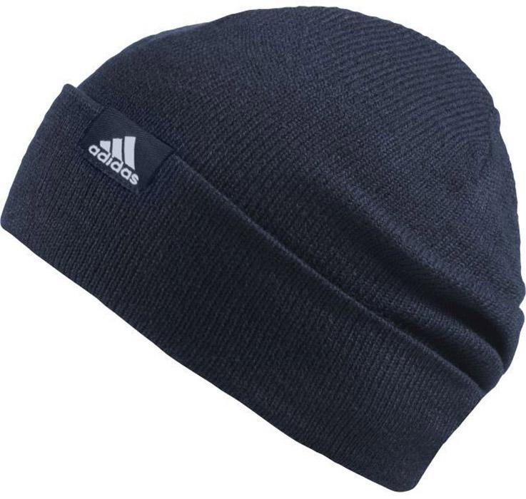 Шапка Adidas Perf Woolie, цвет: темно-синий. AB0352. Размер 56/57AB0352Вязаная шапка Adidas выполнена из полиакрила. Шапка выполнена вязкой мелкими петлями. Эластичный нижний край с отворотом для комфортной посадки.