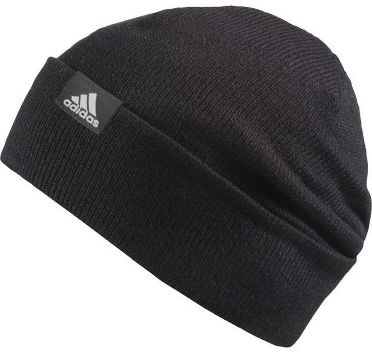 Шапка Adidas Perf Woolie, цвет: черный. AB0349. Размер 60/62AB0349Вязаная шапка Adidas выполнена из полиакрила. Шапка выполнена вязкой мелкими петлями. Эластичный нижний край с отворотом для комфортной посадки.