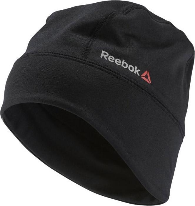 Шапка Reebok Os Run Beanie, цвет: черный. AY0634. Размер 58/60AY0634Шапка Reebok выполнена из полиэстера с добавлением эластана. Эта двусторонняя шапка — идеальный вариант для тренировок в холодное время года. Модель дополнена светоотражающими элементами.