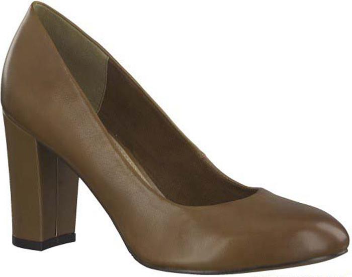 Туфли женские S.Oliver, цвет: коричневый. 5-5-22406-29-305/220. Размер 365-5-22406-29-305/220Элегантные туфли от S.Oliver выполнены из натуральной кожи. Внутренний материал изготовлен из текстиля и искусственной кожи, подошва - из прочного термопластичного материала, стелька кожаная. Модель имеет закругленный мысок и устойчивый каблук-столбик.