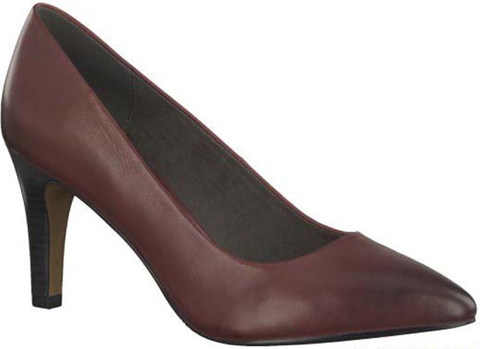 Туфли женские S.Oliver, цвет: бордовый. 5-5-22432-29-549/220. Размер 365-5-22432-29-549/220Элегантные туфли от S.Oliver выполнены из натуральной кожи. Внутренний материал изготовлен из текстиля и искусственной кожи, подошва - из прочного термопластичного материала, стелька кожаная. Модель имеет острый мысок и невысокий устойчивый каблук.