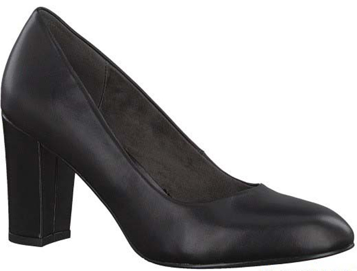 Туфли женские S.Oliver, цвет: черный. 5-5-22406-29-001/220. Размер 365-5-22406-29-001/220Элегантные туфли от S.Oliver выполнены из натуральной кожи. Внутренний материал изготовлен из текстиля и искусственной кожи, подошва - из прочного термопластичного материала, стелька кожаная. Модель имеет закругленный мысок и устойчивый каблук-столбик.