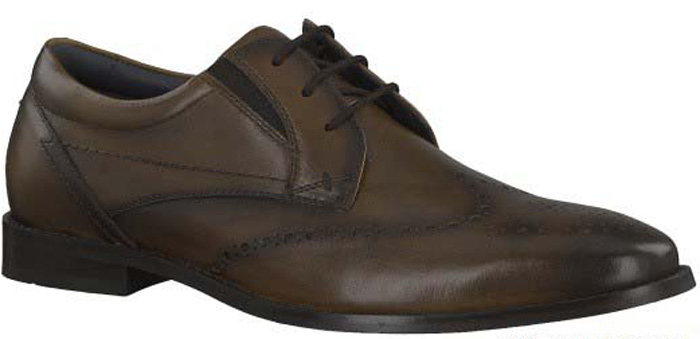 Туфли мужские S.Oliver, цвет: коричневый. 5-5-13203-29-306/115. Размер 435-5-13203-29-306/115Стильные мужские туфли от S.Oliver выполнены из натуральной кожи. Внутренний материал и стелька изготовлены из натуральной кожи, а подошва - из прочного термопластичного материала. Модель имеет шнуровку, эластичные резинки для легкого надевания и каблук-кирпичик. Туфли дополнены перфорацией.