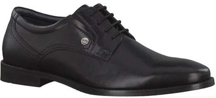 Туфли мужские S.Oliver, цвет: черный. 5-5-13202-29-001/115. Размер 425-5-13202-29-001/115Стильные мужские туфли от S.Oliver выполнены из натуральной кожи. Внутренний материал и стелька изготовлены из натуральной кожи, а подошва - из прочного термопластичного материала. Модель имеет шнуровку, эластичные резинки для легкого надевания и каблук-кирпичик.