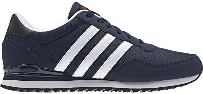 Кроссовки мужские Adidas Jogger Cl, цвет: темно-синий, белый. BB9680. Размер 12 (46)BB9680Аккуратные мужские кроссовки Adidas Jogger Cl выполнены в беговом стиле. Пришитые три полоски в духе спортивной классики. Литая промежуточная подошва из ЭВА мягко пружинит каждый шаг. Верх модели исполнен из искусственной кожи. Удобная текстильная подкладка. Промежуточная подошва из легкого ЭВА для оптимальной амортизации. Резиновая подошва с протектором для идеального сцепления с поверхностью.