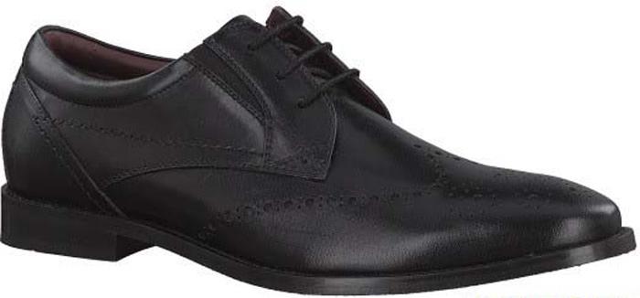 Туфли мужские S.Oliver, цвет: черный. 5-5-13203-29-001/115. Размер 445-5-13203-29-001/115Стильные мужские туфли от S.Oliver выполнены из натуральной кожи. Внутренний материал и стелька изготовлены из натуральной кожи, а подошва - из прочного термопластичного материала. Модель имеет шнуровку, эластичные резинки для легкого надевания и каблук-кирпичик. Туфли дополнены перфорацией.