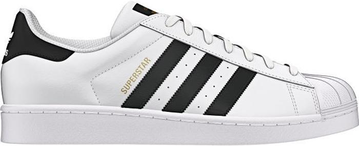 Кроссовки мужские Adidas Superstar Ftwwht, цвет: белый, черный. C77124. Размер 11 (44,5)C77124Кроссовки мужские Adidas Superstar Ftwwht выполнены из гладкой кожи. Прорезиненный мысок-ракушка, три полоски из искусственной кожи, удобная текстильная подкладка. Модель на классической шнуровке. Стелька выполнена из легкого ЭВА-материала с поверхностью из текстиля. Подошва изготовлена из высококачественной легкой резины. Поверхность подошвы дополнена рельефным рисунком.