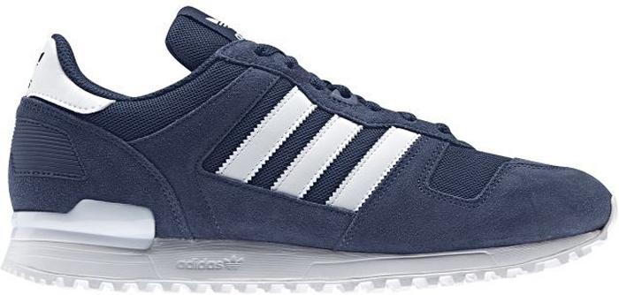 Кроссовки мужские Adidas Zx 700, цвет: синий. BY9267. Размер 9,5 (42,5)BY9267Кроссовки ZX 700 от Adidas обрели статус культовой обуви для бега на длинные дистанции сразу после своего выпуска в 1985 году. Эти кроссовки с сетчатым верхом и замшевыми вставками сохраняют ретро-образ. Люверс в средней части стопы и аутентичный задник из термополиуретана завершают классический силуэт. Модель декорирована тремя полосками из искусственной кожи. Предусмотрен тканый ярлычок на язычке. Клипса и термополиуретановый люверс на шнуровке.Удобная текстильная подкладка. Комфортная и функциональная стелька OrthoLite с антимикробным покрытием. Легкая литая промежуточная подошва из ЭВА для оптимальной амортизации. Резиновая подошва с протектором для идеального сцепления.