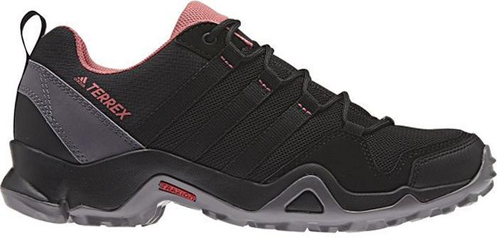 Кроссовки трекинговые женские Adidas Terrex Ax2r W, цвет: черный, серый. BB4622. Размер 6 (38)BB4622Женские универсальные кроссовки Terrex Ax2r W от Adidas созданы для активного отдыха. Эти низкие кроссовки изготовлены с использованием меньшего количества материалов для большей легкости. Верх из дышащей ткани быстро сохнет. Мягкая промежуточная подошва из ЭВА для оптимальной амортизации. Легкий верх из функциональной сетки и текстиля для дополнительной прочности. Литая стелька для более удобной посадки. Легкая упругая промежуточная подошва из ЭВА сохраняет свои свойства в течение длительного времени. Удобная текстильная подкладка обеспечивает ногам комфорт. Резиновая подошва TRAXION с глубоким протектором обеспечивает отличное сцепление с каменистой поверхностью.