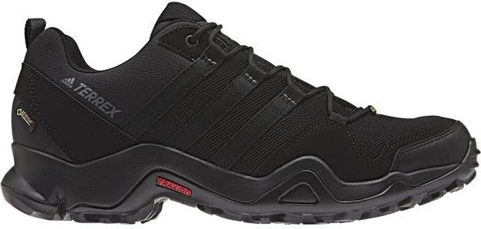 Кроссовки трекинговые мужские Adidas Terrex Ax2R Gtx, цвет: черный. BA8040. Размер 10 (43)BA8040Удобные кроссовки Adidas Terrex Ax2R Gtx для трекинга и туризма. Дышащий верх и подкладка Gore-Tex обеспечивают сухость ног. Литая стелька плотно облегает стопу, а вставка Adiprene в пяточной части способствует амортизации ударных нагрузок. Подошва Traxion обеспечивает сцепление с камнями и грунтом даже во влажную погоду.