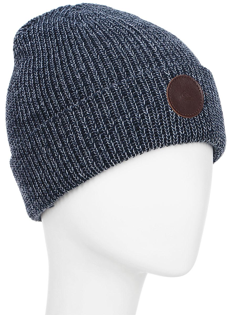 Шапка мужская Quiksilver Crew, цвет: синий. EQYHA03039-BYJ0. Размер универсальныйEQYHA03039-BYJ0Мужская шапка Quiksilver Crew выполнена из высококачественного акрила. Оформлена отворотом и нашивкой.