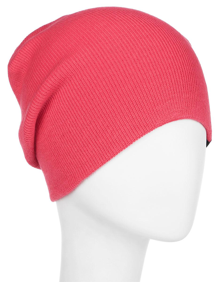 Шапка женская Roxy Dare To Dream, цвет: розовый. ERJHA03099-MLR0. Размер универсальныйERJHA03099-MLR0Женская шапка выполнена из высококачественного акрила. Модель выполнена двухслойной вязкой.